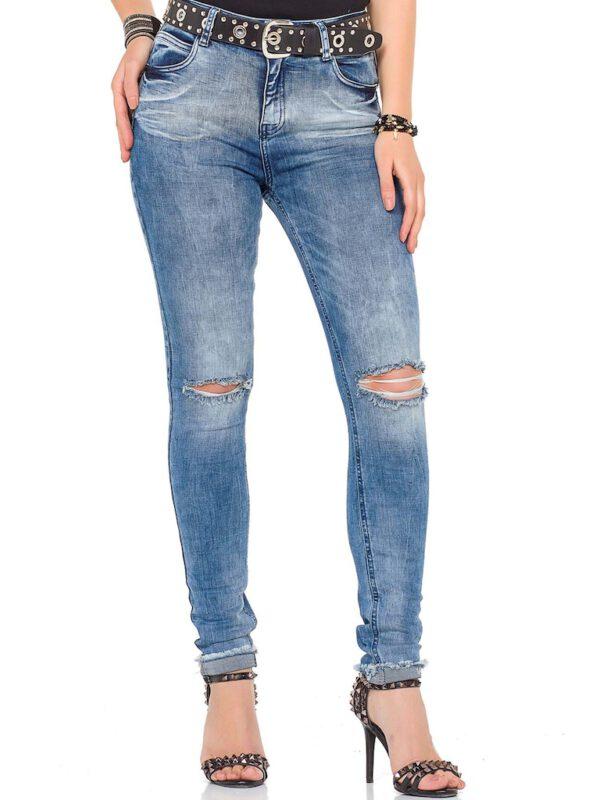 سفارش شلوار جین آبی مدل پاره زنانه برند Cipo Baxx