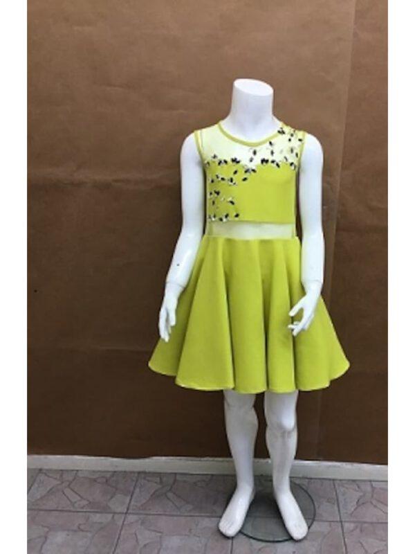 خرید اینترنتی لباس مجلسی دخترانه سبز رنگ ارسالی از ترکیه