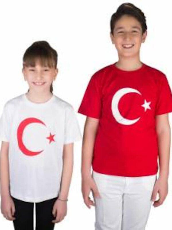خرید اینترنتی تیشرت بچه گانه طرح پرچم ترکیه ارسال از ترکیه