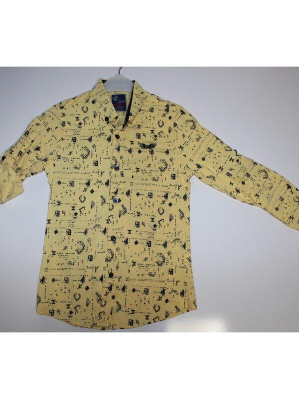 خرید اینترنتی پیراهن پسرانه زرد رنگ ارسال از ترکیه