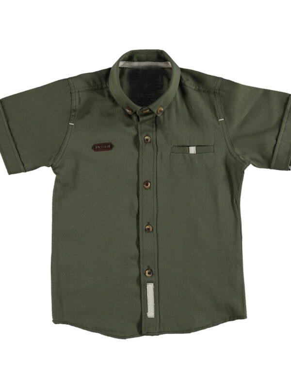 خرید پیراهن پسرانه سبز رنگ مناسب برای 9 سال از ترکیه