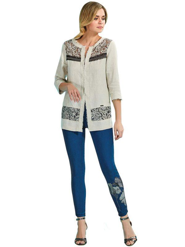 فروش مستقیم شلوار جین آبی جذب زنانه برند GUITAR کد 18298-H