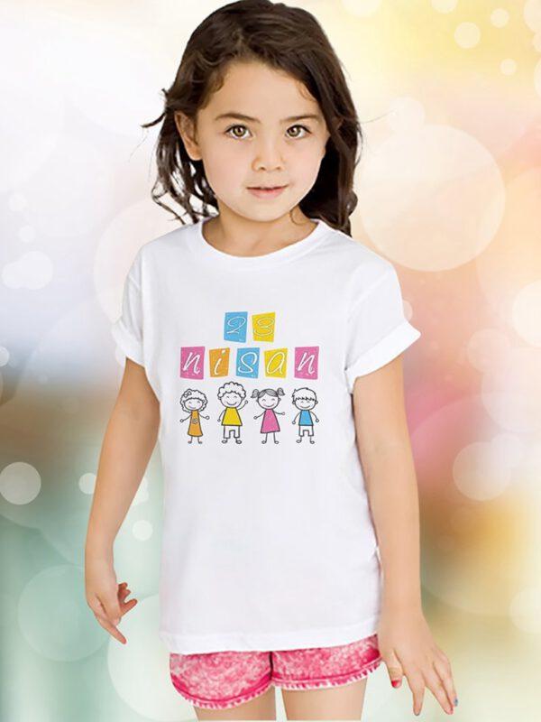 خرید اینترنتی تیشرت سفید رنگ دخترانه ارسال از ترکیه