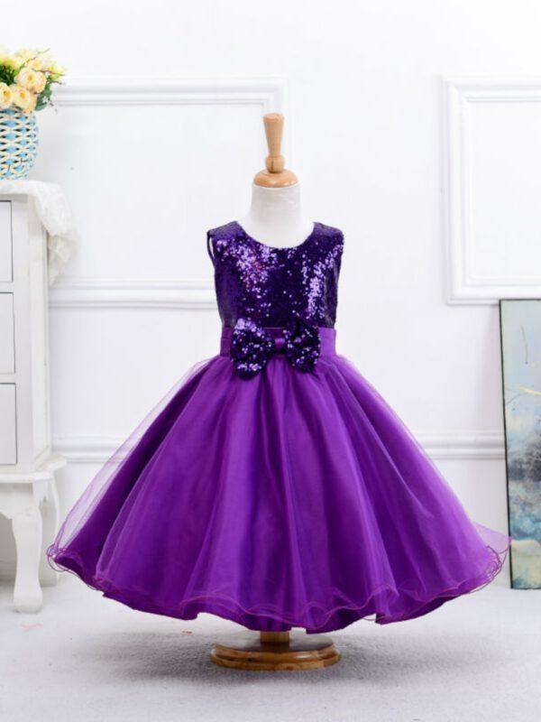خرید اینترنتی لباس مجلسی دخترانه بنفش رنگ ارسال از ترکیه