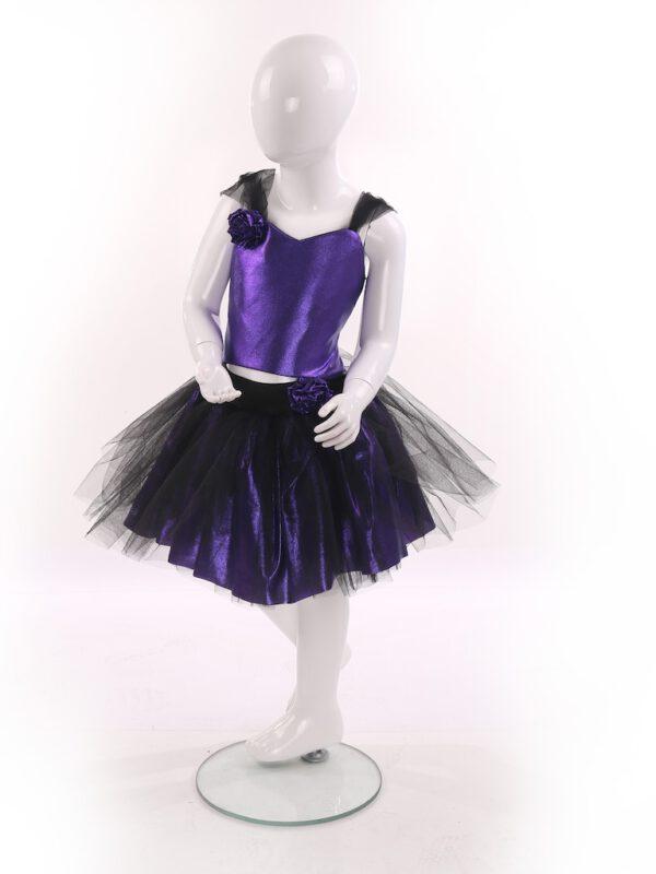خرید اینترنتی لباس مجلسی دخترانه بنفش رنگ از ترکیه