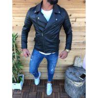 خرید اینترنتی ژاکت چرم مردانه برند oliggopol ارسال از ترکیه