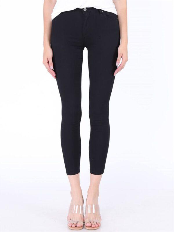 خرید آنلاین شلوار جین مشکی جذب زنانه کد 9028-65