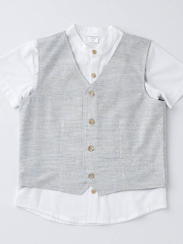 خرید اینترنتی پیراهن پسرانه دو تیکه برند Wonderkids از ترکیه