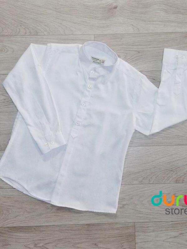خرید اینترنتی پیراهن پسرانه سفید رنگ برند woorage ارسال از ترکیه